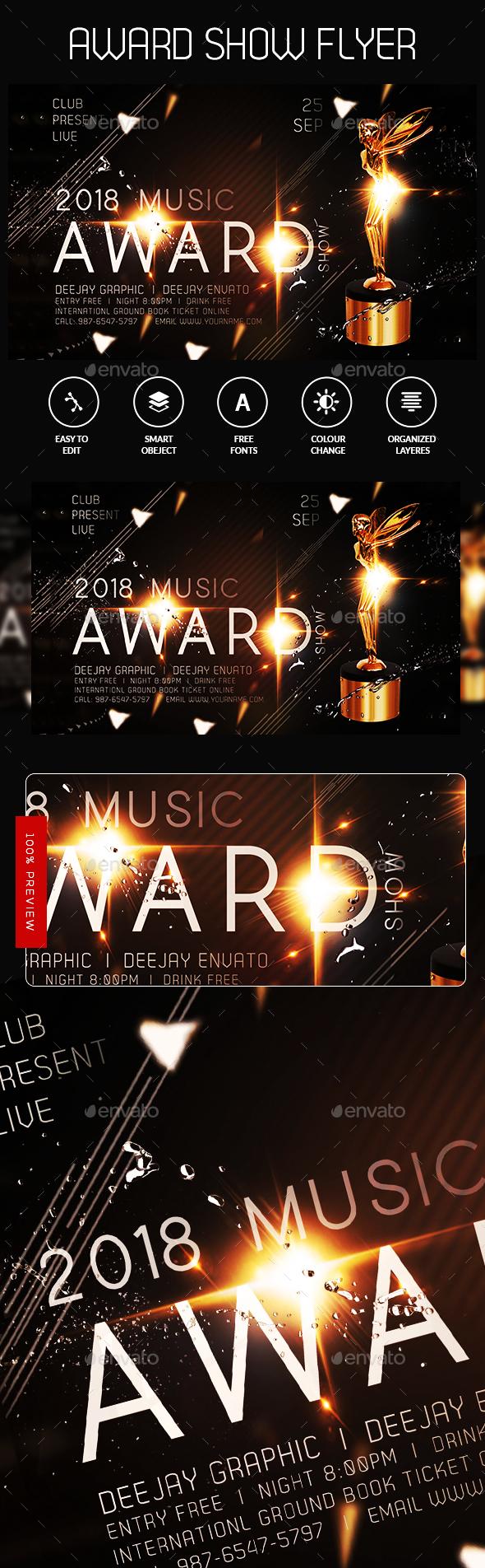Music Award Flyer - Flyers Print Templates