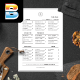Minimalist Food Menu - GraphicRiver Item for Sale