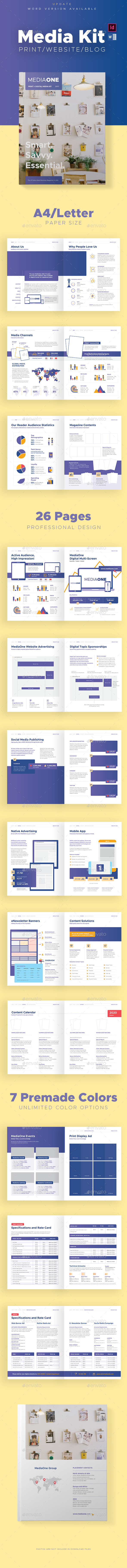 Print And Digital Media Kit Template By Afahmy Graphicriver