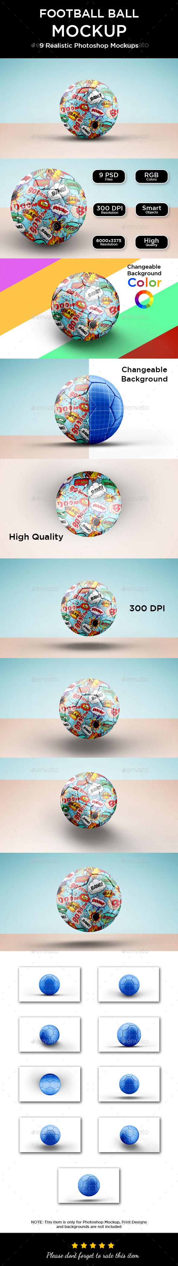 Soccer / Football Ball Mockup - Product Mock-Ups Graphics