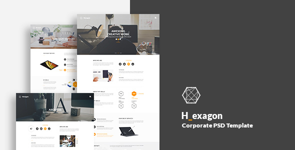 Hexagon - Corporate PSD Template - Business Corporate