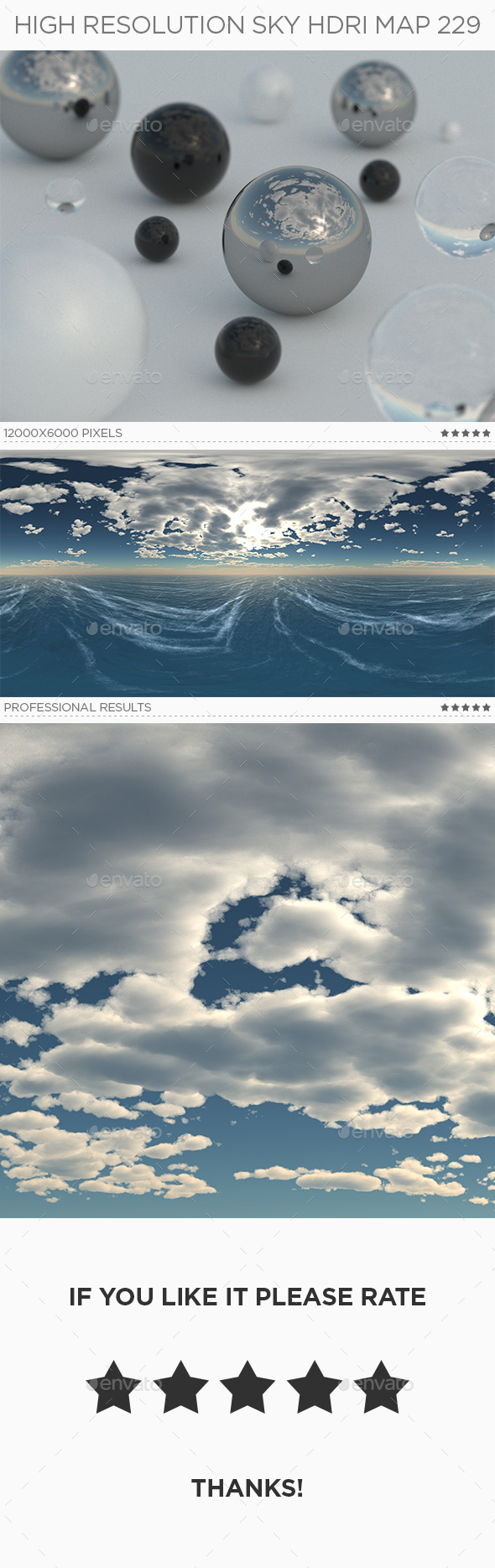 High Resolution Sky HDRi Map 229 - 3DOcean Item for Sale