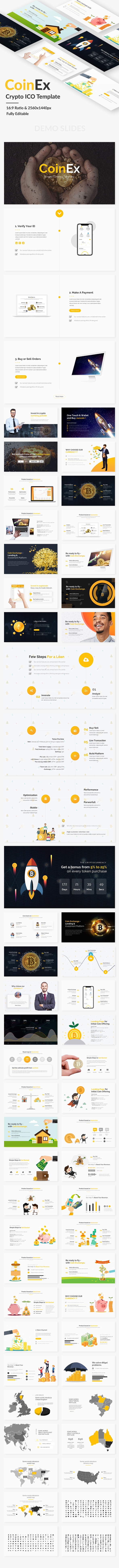 Coin Exchange and Crypto Currency Google Slide Template - Google Slides Presentation Templates