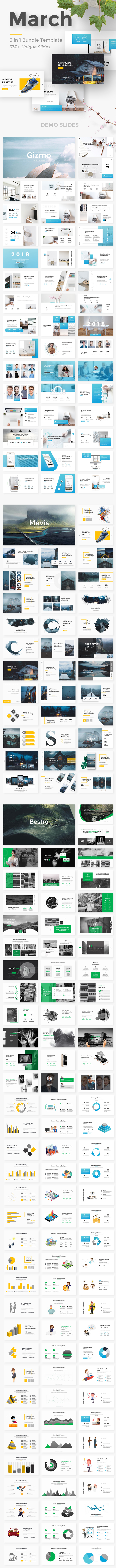 3 in 1 March Bundle Creative  Keynote Template - Creative Keynote Templates