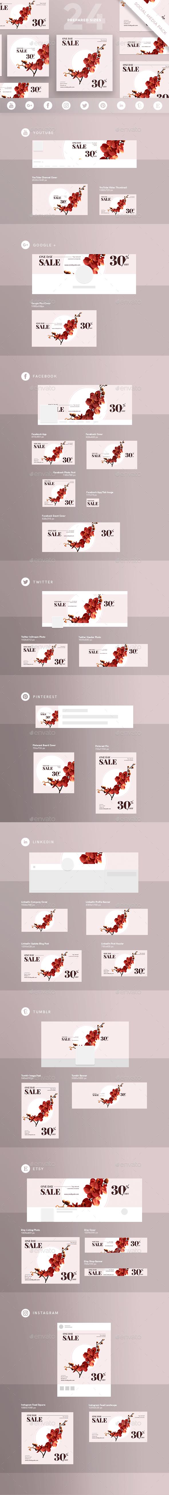 Natural Cosmetics Sales Social Media Pack - Miscellaneous Social Media
