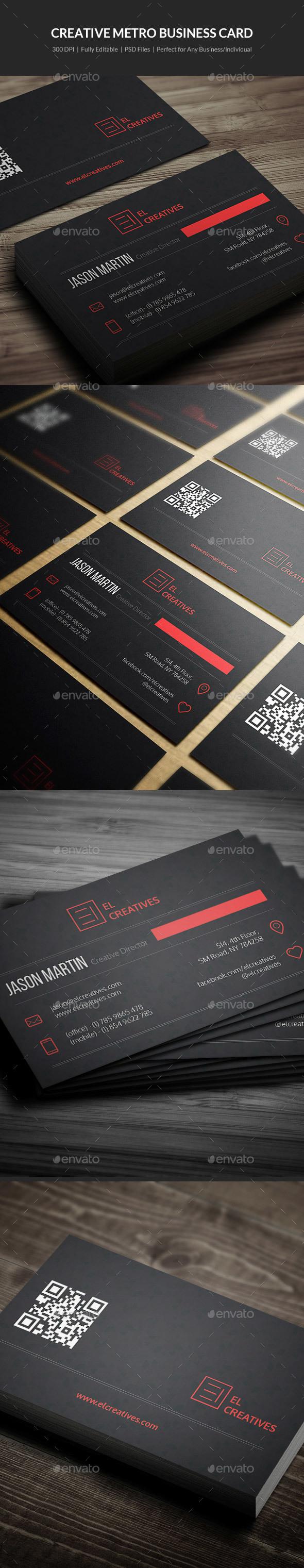 Dark Corporate Business Card - 17 - Corporate Business Cards