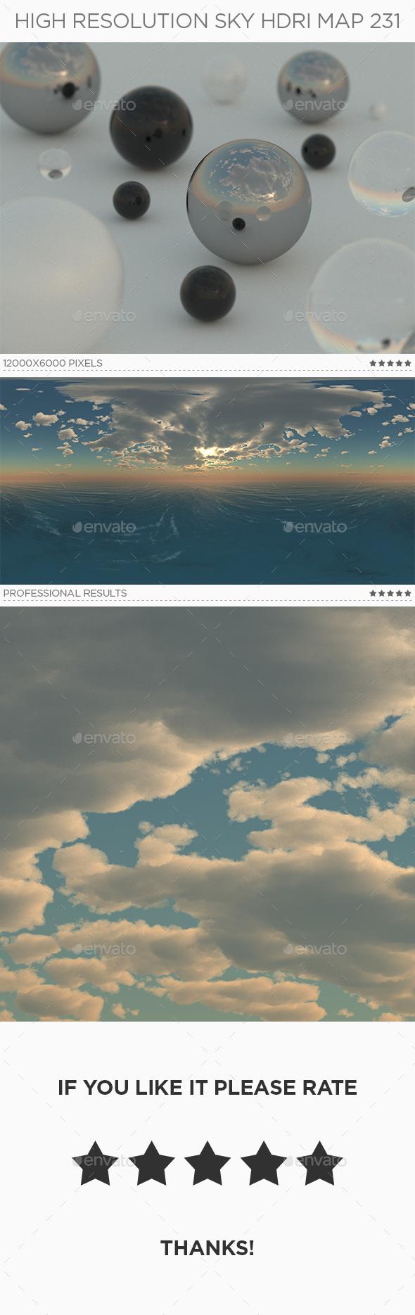 High Resolution Sky HDRi Map 231 - 3DOcean Item for Sale