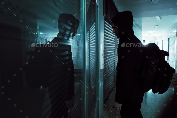 Mystery in the mirror - Stock Photo - Images