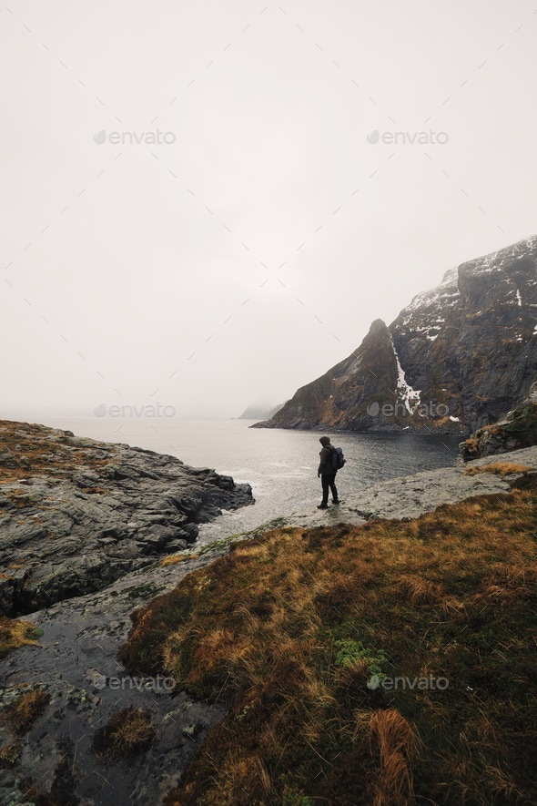 At the edge of it all - Stock Photo - Images