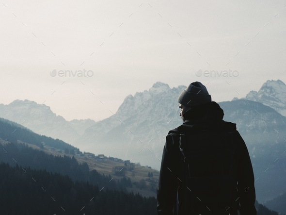 Meet the mountain. - Stock Photo - Images