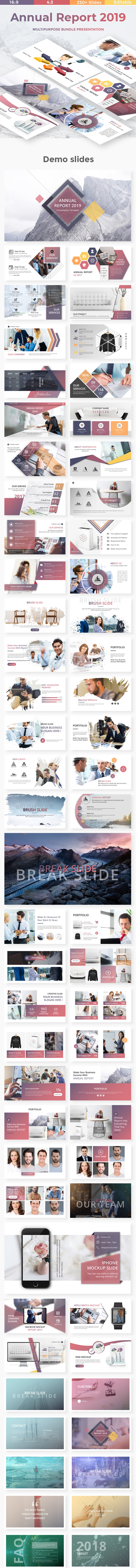 Annual Report 2019 - Business Powerpoint Template - Business PowerPoint Templates