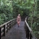 Female Tourist Walking in Rainforest Park - VideoHive Item for Sale