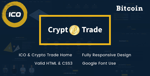 Crypto Trade - ICO, Bitcoin and Cryptocurrency HTML Template - Technology Site Templates
