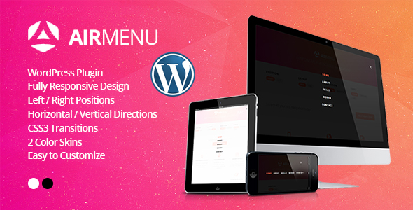 AirMenu - Responsive Fullscreen Navigation WordPress Plugin - CodeCanyon Item for Sale