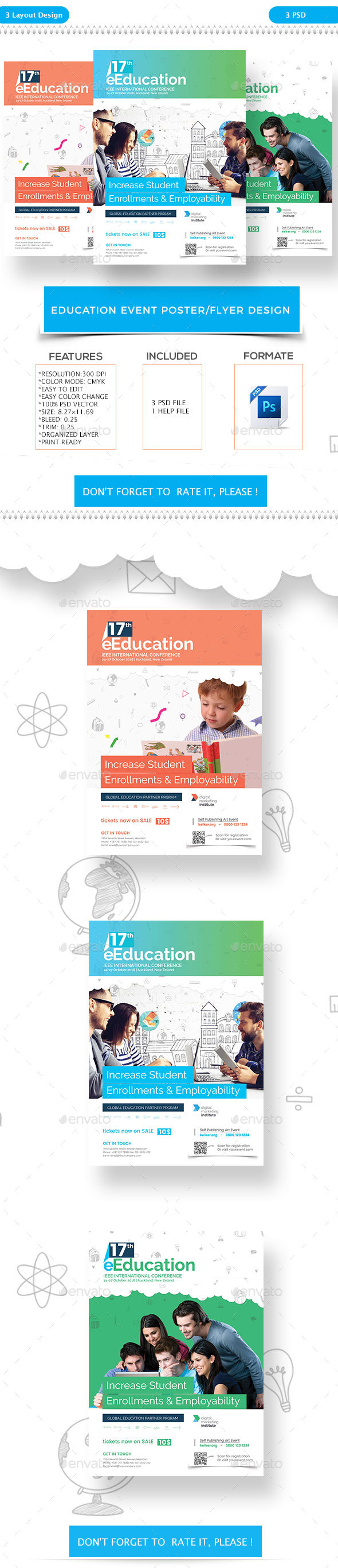 Education Event Poster/Flyer Design - Corporate Flyers