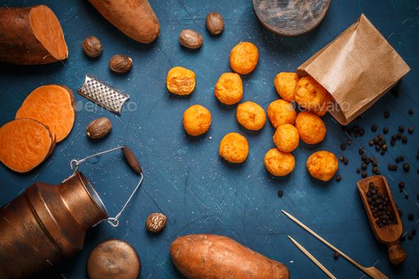 Homemade potato croquettes - Stock Photo - Images