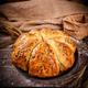 Freshly baked wheat buns