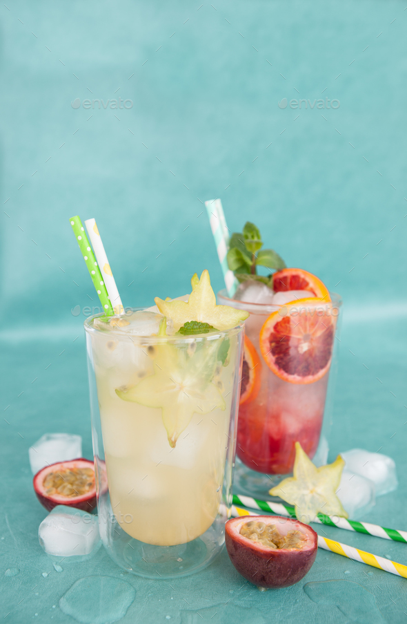 Colorful summer cocktail - Stock Photo - Images