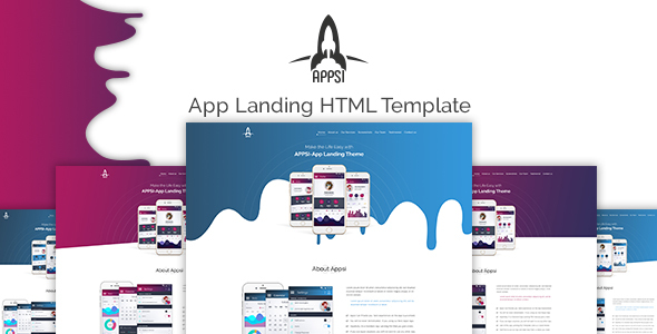 APPSI-App Landing HTML Template - Personal Site Templates