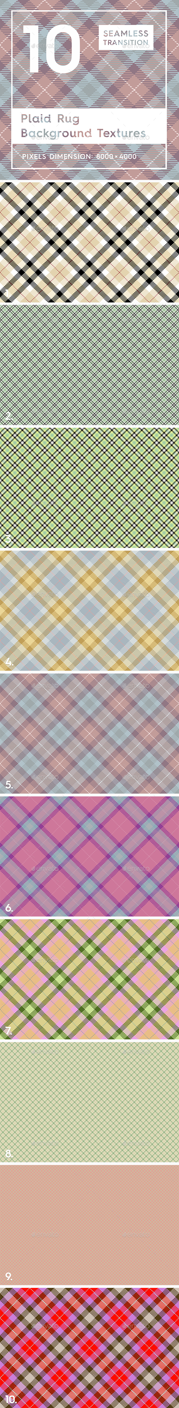 10 Plaid Rug Background Textures - Patterns Backgrounds