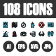 108 Pixel Perfect Icons Vol.2 - GraphicRiver Item for Sale