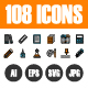 108 Pixel Perfect Icons Vol.3