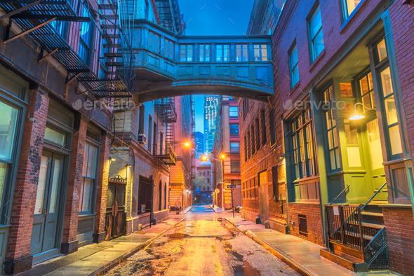 New York City Alleyways - Stock Photo - Images