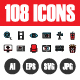 108 Pixel Perfect Icons Vol.4 - GraphicRiver Item for Sale