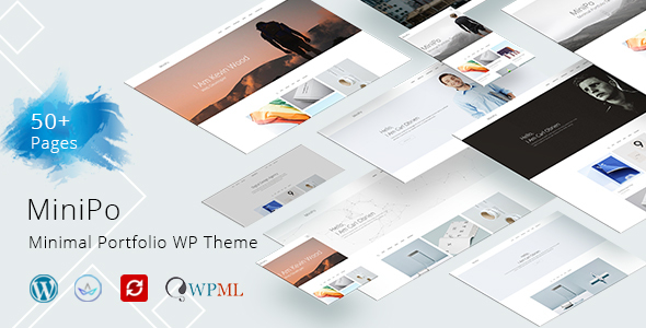 Image of MiniPo - Multipurpose Minimal Portfolio WordPress Theme