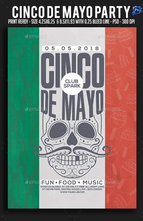 Cinco De Mayo Party Flyer - Clubs & Parties Events