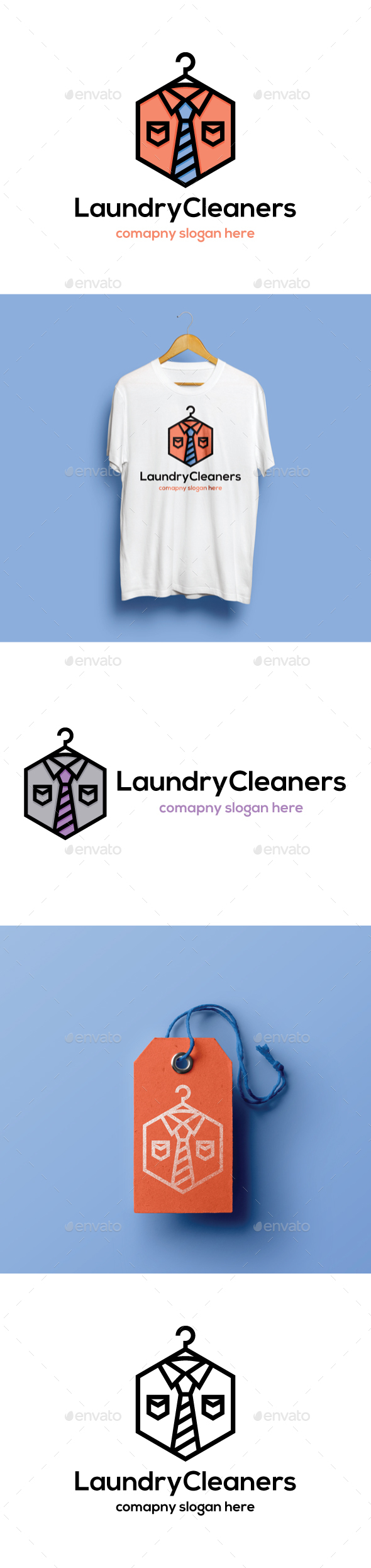 Laundry Cleaners - Objects Logo Templates