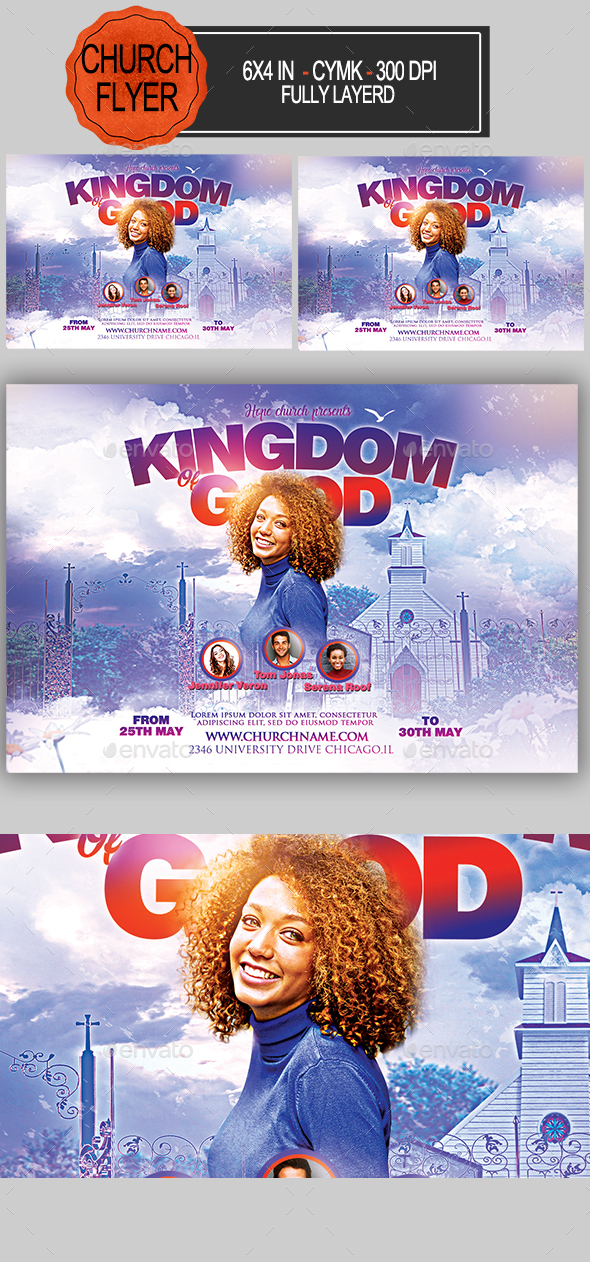 Kingdom of God Flyer - Church Flyers
