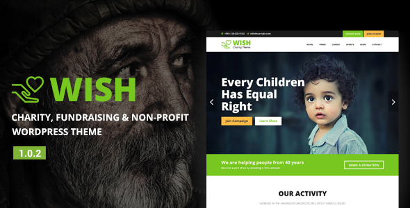 Image of Wish - Charity WordPress Theme