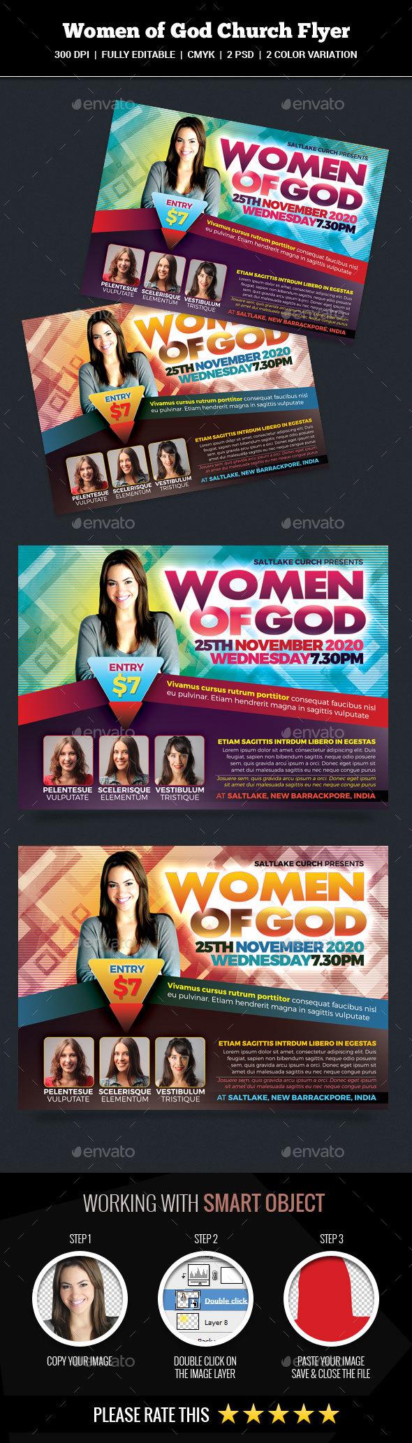 Women of God Church Flyer - Church Flyers