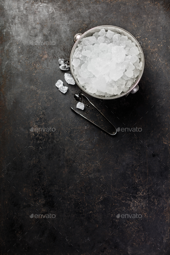 Metal ice bucket - Stock Photo - Images