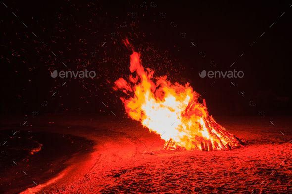 fire flames - Stock Photo - Images