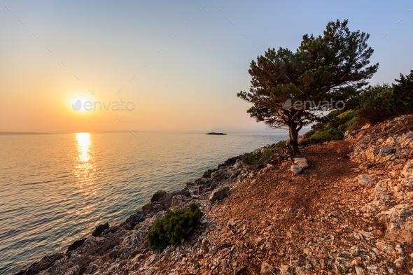 Cape Doukato, Lefkada island, Greece - Stock Photo - Images