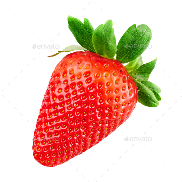 Red Strawberry isolated - Stock Photo - Images