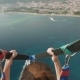 Parasailing Water Amusement Flying on a Parachute Behind a Boat in Montenegro - VideoHive Item for Sale