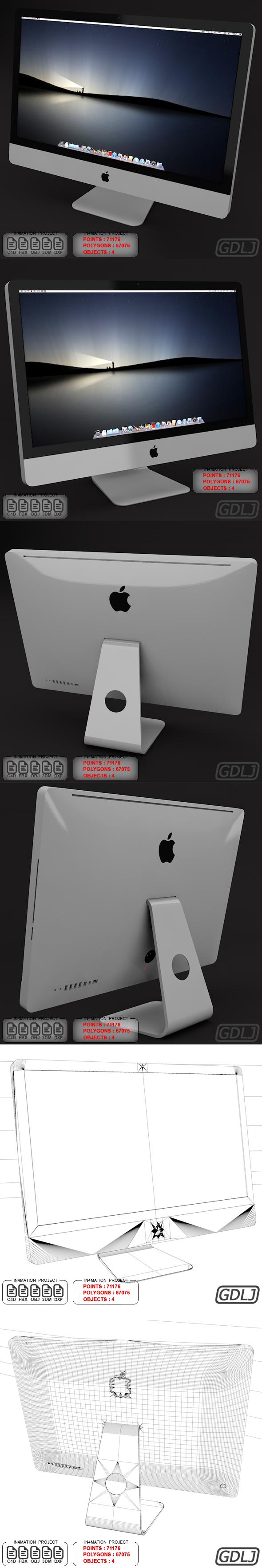 Apple iMac 27 3D Models - 3DOcean Item for Sale