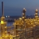 A Huge Oil Refinery at Night - VideoHive Item for Sale