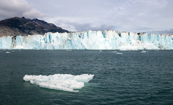 Iceberg Glacier Ice Water Surface Marine Landscape Aquatic Wilderness - Stock Photo - Images