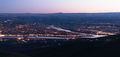 Aerial View Lewiston Idaho Bridge Bend Clearwater River Sunset - PhotoDune Item for Sale