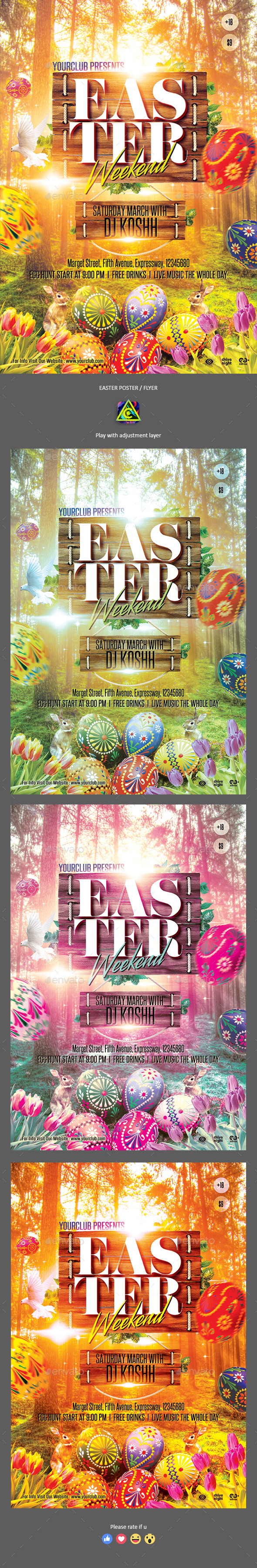 Easter Poster / Flyer - Clubs & Parties Events