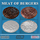 Meat of burgers 3D Models Full Quality