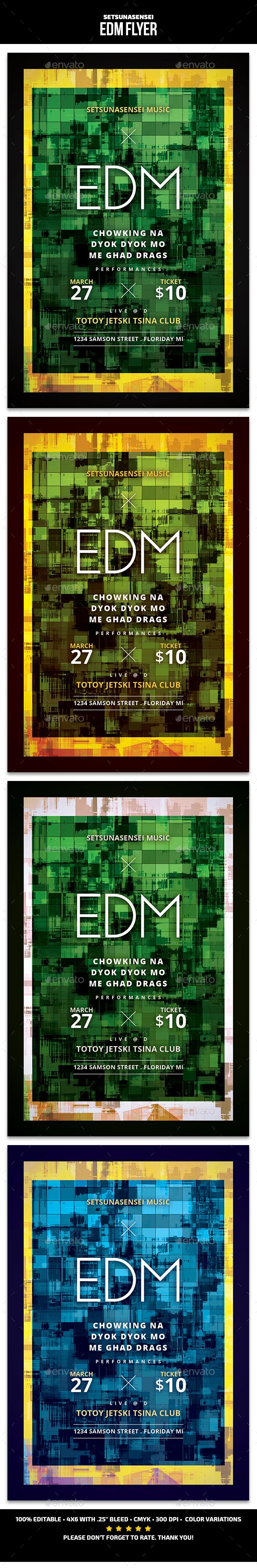 EDM Flyer - Events Flyers