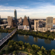 Aerial View Colorado River Downtown City Skyline Austin Texas US - PhotoDune Item for Sale