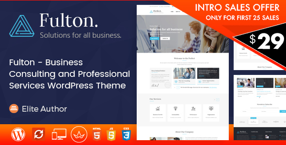 Image of Fulton - Consulting Business and Multi-Purpose WordPress Theme