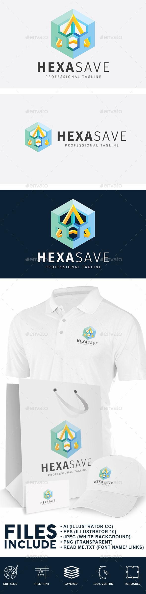Hexagonal Safety Logo - Abstract Logo Templates