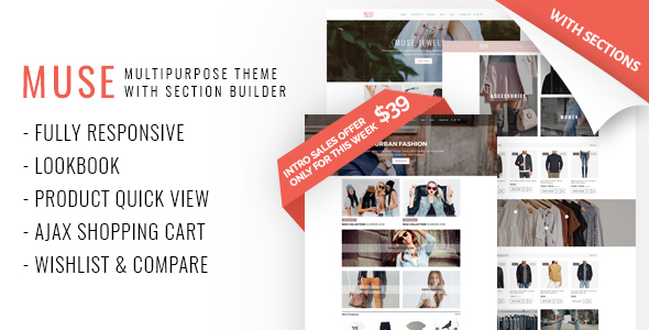 Image of Muse - Multipurpose Shopify Theme with Section Builder & Lookbook